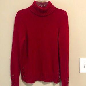LOFT Ann Taylor Sweater Turtleneck SZ M Re…